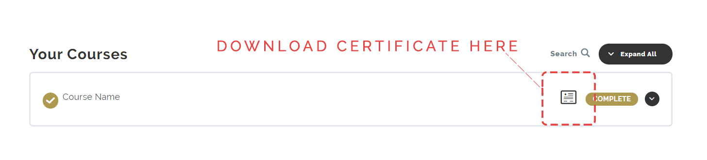 How to find your certificate
